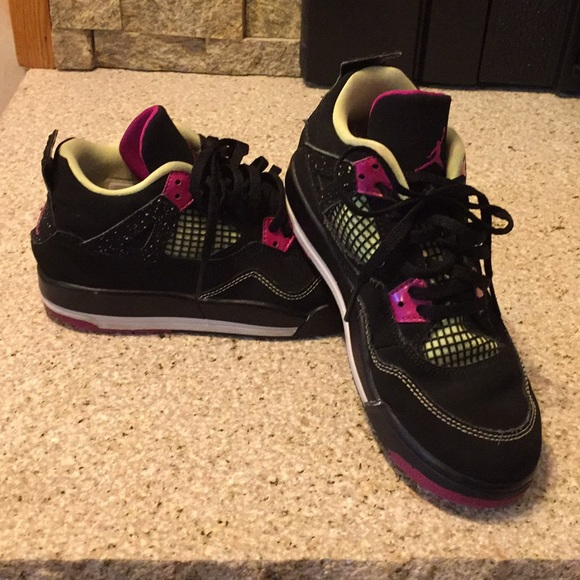 on sale 97ad3 f6d1c Air Jordan Other - Air Jordan Retro 4 Fuchsia Flash Kids Size 3